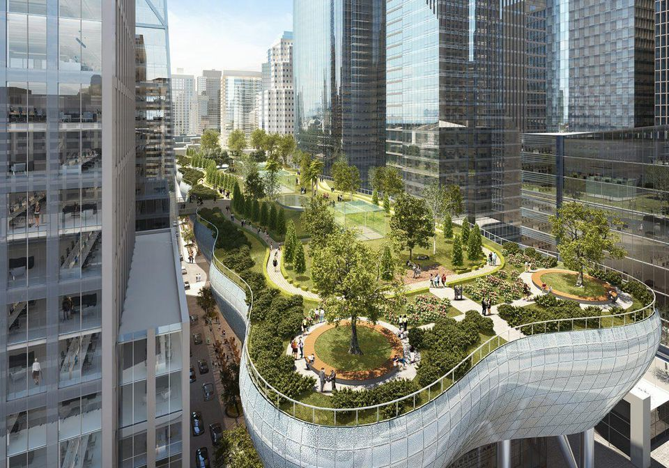 America Meditates San Francisco is going to be held at Salesforce Park! Space age, huh?