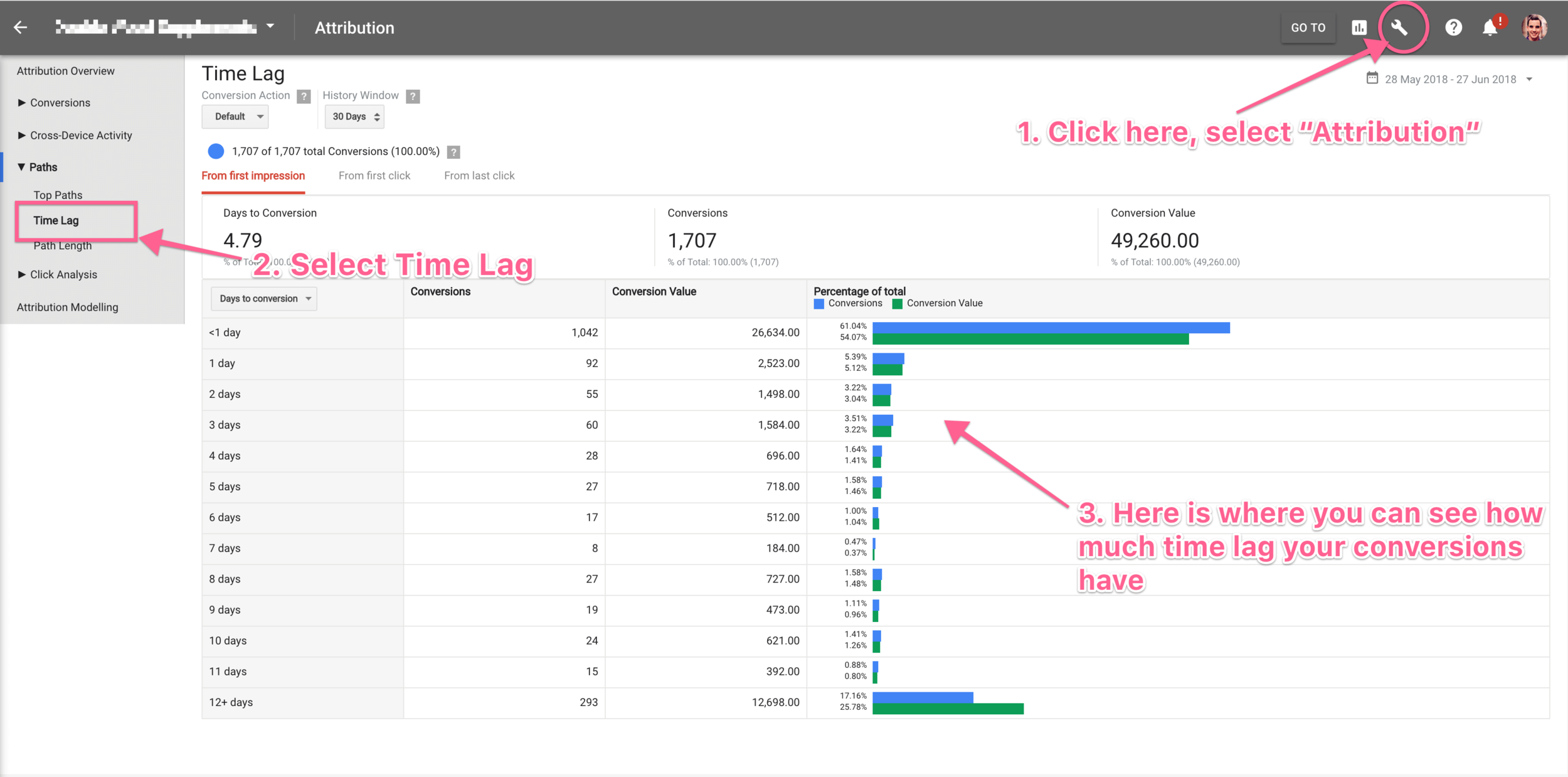 time lage report adwords new interface.png