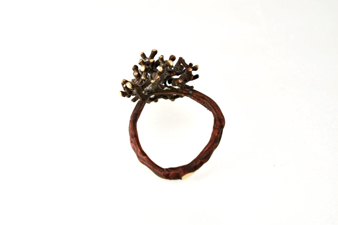 fairtrade golden coral ring