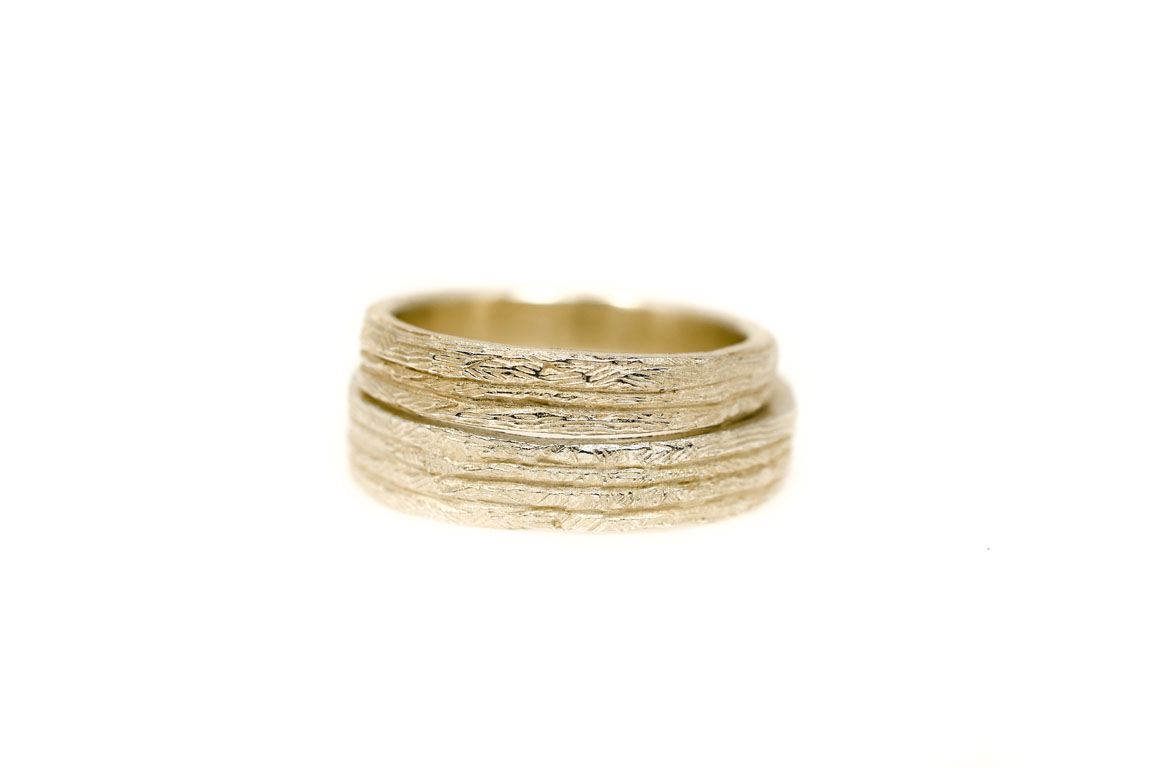 Symbiosis Paradise wedding rings