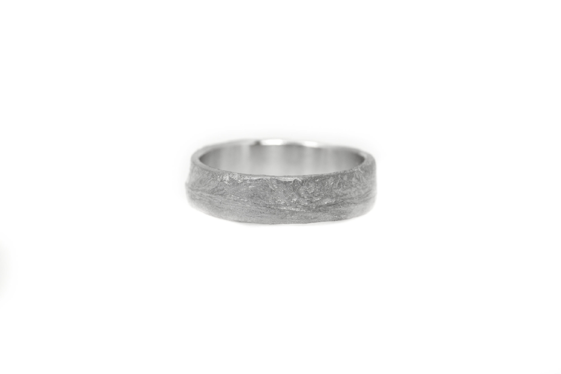 Trouwring earth 6mm breed mannenring