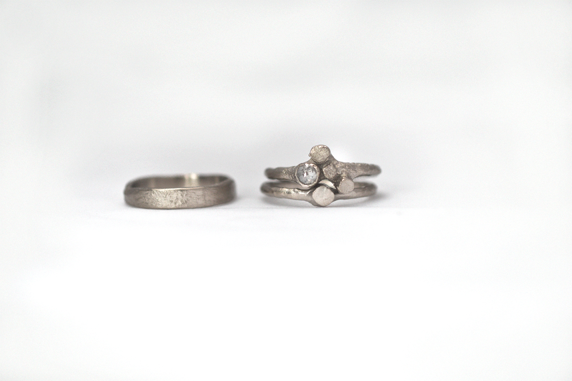 Celebrate Spring around your finger with the twig ring and the trunk ring