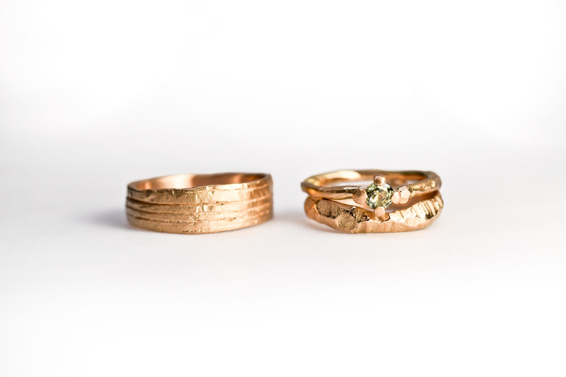 Lovely pair with a mix & match from rock, twig & symbiosis rings