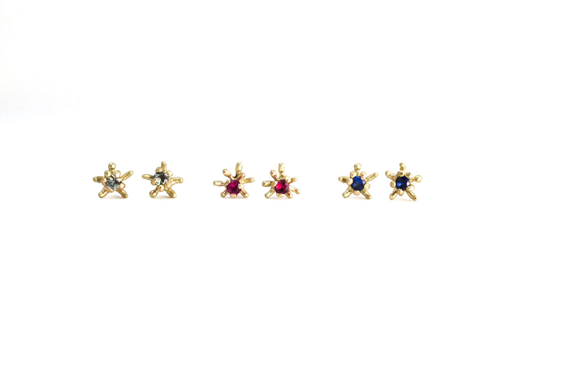 corals-earpins-small-3pairs-silver-gold-emerald-ruby-sapphire-natural-wax-1152.jpg