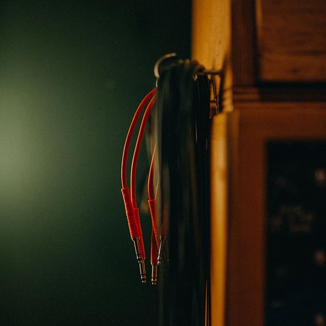⚡️Festive Much?⚡️ This is the most festive studio pic I could find... so, there it is 'Red Patch Cables on Green Wall' 🎄 📷: @maytreephoto