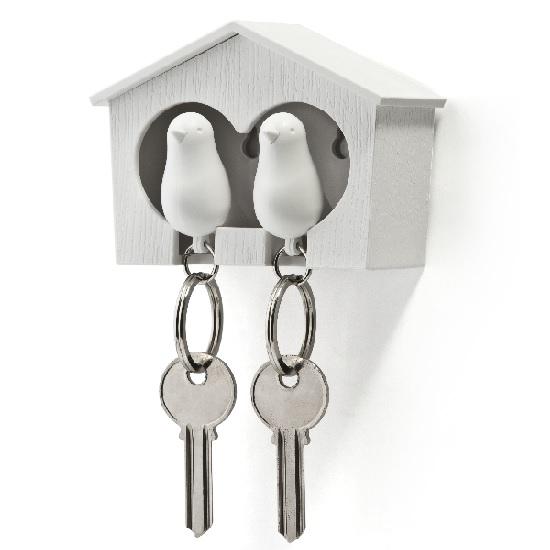 Qualy  huisje met 2 sleutelhangers