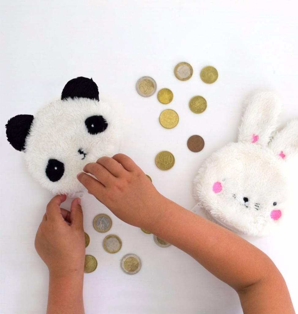 Little Lovely Company Pluizige portemonneetjes