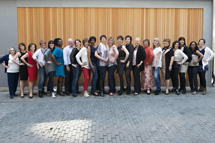 The lineup of catwalk models for Breast Cancer Care 2014