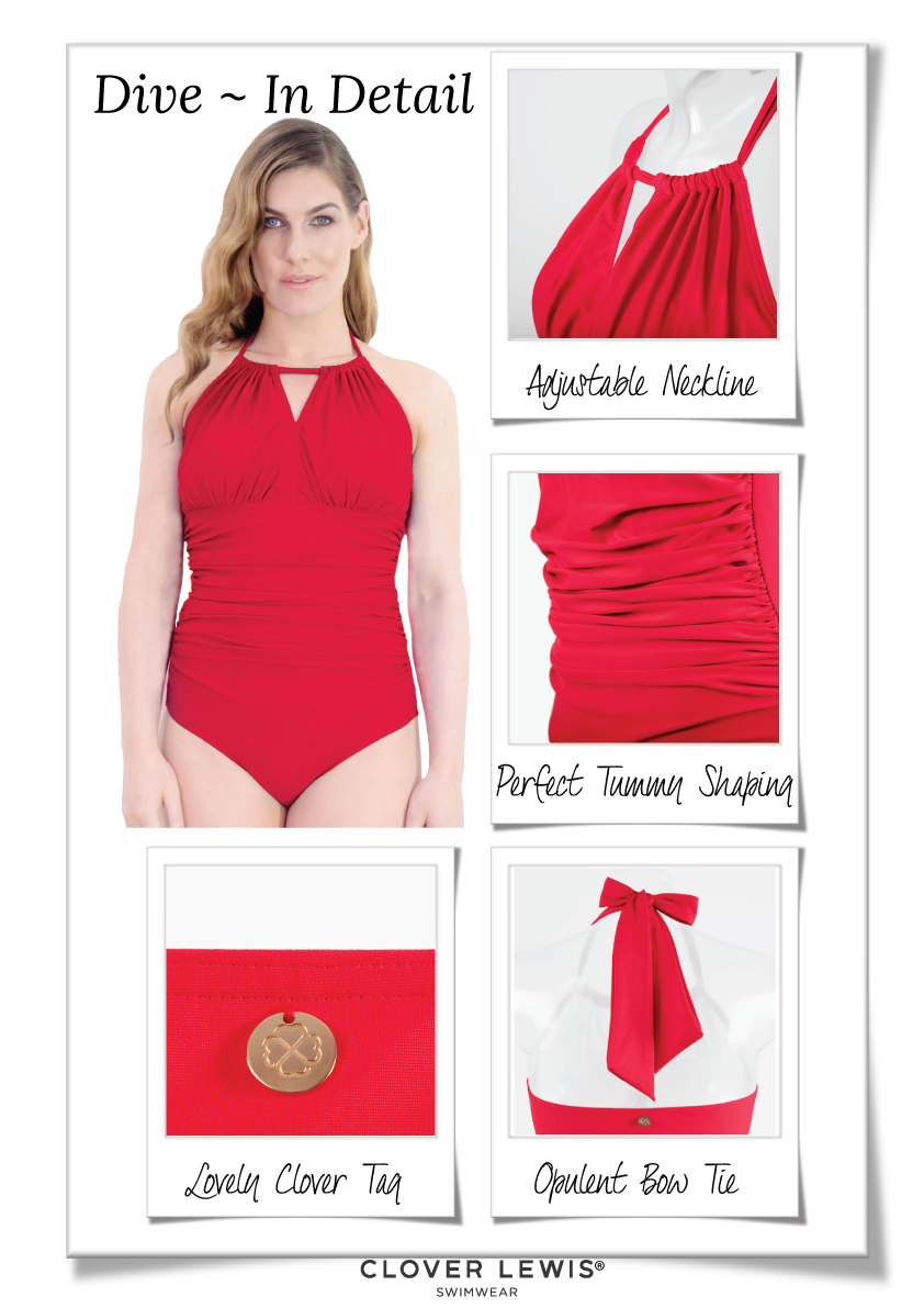 Dive High Neck One Piece is just so glamorous, no one knows that it's mastectomy swimwear!