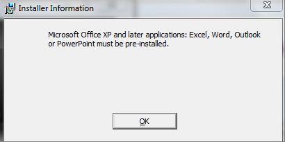 Microsoft Installer Information