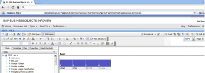 Modifying a report on InfoView