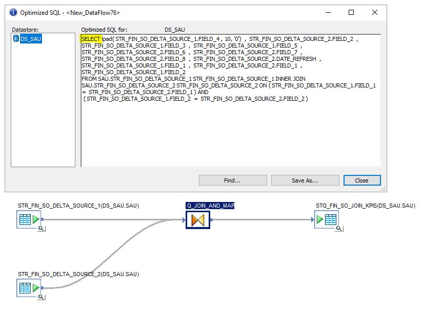 Dataflow without pushdown