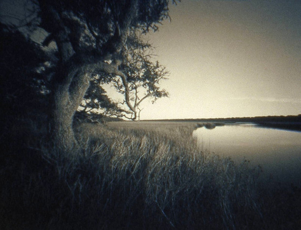 MIDDLE ISLAND  , from the Landscape series; cyanotype over platinum/palladium, pinhole. Limited Edition 4/10