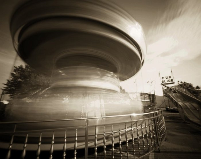 SPINNING TOP  , from  The Midway  series; platinum/palladium, pinhole; LImited Edition 2/10