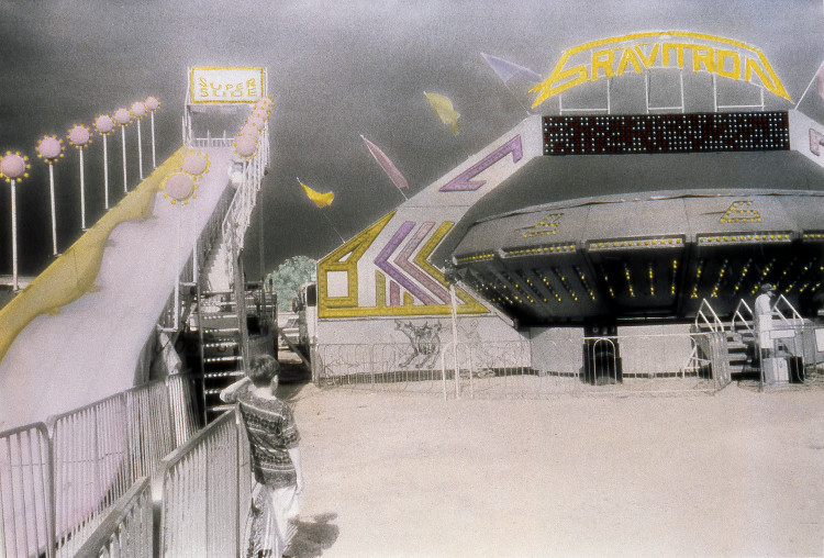 GRAVITRON , from  The Midway  series; infrared hand-tinted b&w print; Limited edition 2/10