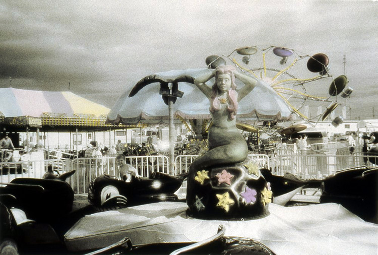 MERMAID,   from  The Midway  series; infrared b&w hand-tinted.  Limited edition 2/10
