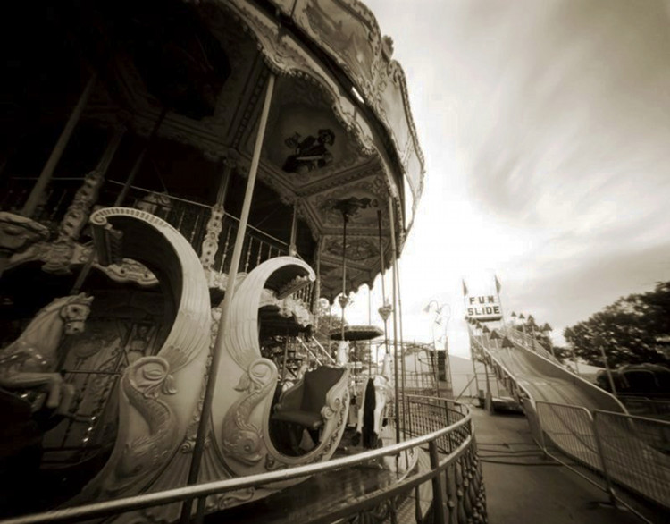 FUN SLIDE  , from  The Midway  series; platinum/palladium, pinhole; Limited edition 3/10