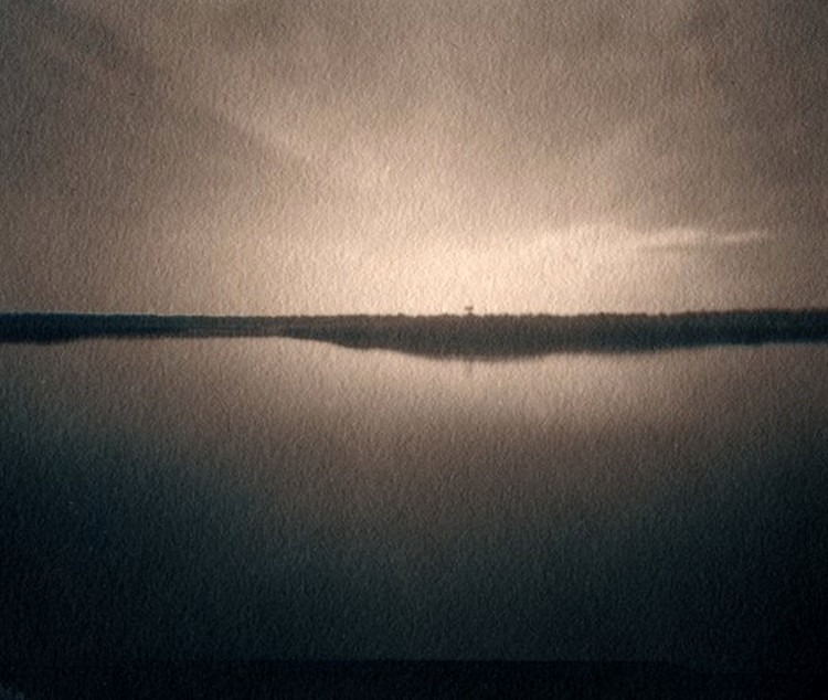 BALD HEAD CREEK  ,from the  Landscape  series; cyanotype over platinum/palladium, pinhole. Limited Edition 2/10