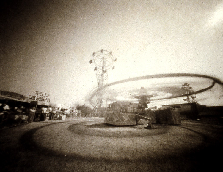CLIFF-HANGER  , from  The Midway  series; platinum/palladium, pinhole.  Limited edition 1/10.
