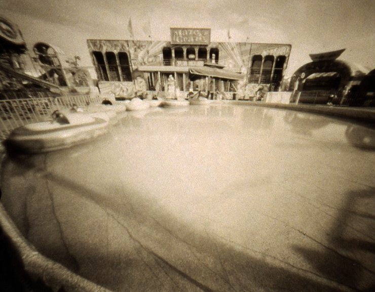 MIDWAY MAZE  , from  The Midway  series; platinum/palladium pinhole; Limited Edition 2/10.