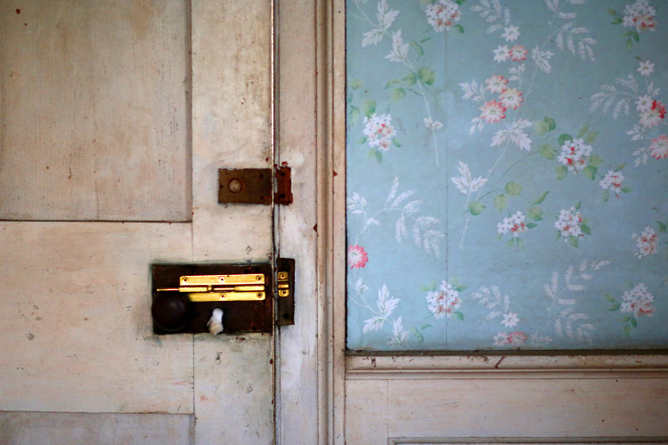 BRASS LOCK  , from  Interiors .  Pigment print.