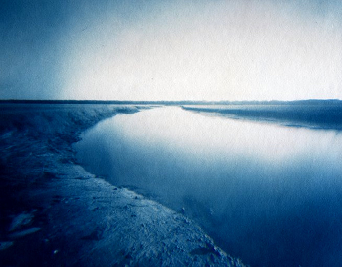 CAPE CREEK,   from the  Landscape  series. Cyanotype, pinhole. Limited Edition 2/10