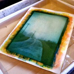 ©Elizabeth's print above, in water development