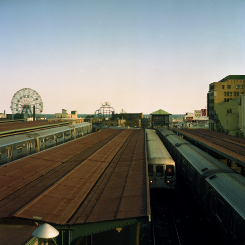 Coney Island Train  , from the  Tickets to Dreamland  series.  20x20 Chromogenic print.  Limited Edition 2/10.