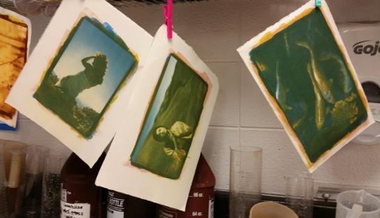 Images & tri-color gum prints by © Janet Boschker  2015