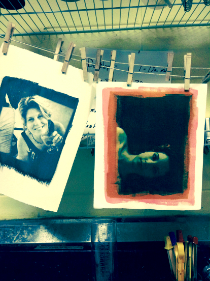 Images and tri-color gum prints by  © Mel Skerpon  (L) and ©  Mike Baker   (R)  2015