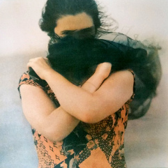 Veiled Woman , tri-color gum bichromate print 2016 ©DH Bloomfield