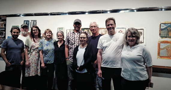 Art Intersection Gum workshop, April 2016; photo by Caroline Hudson-Naef