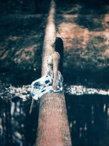 Summer, Reedy Creek   2018/19  Tricolor gum bichromate over cyanotype, from the  Figurative  series.  Limited Edition of 5.