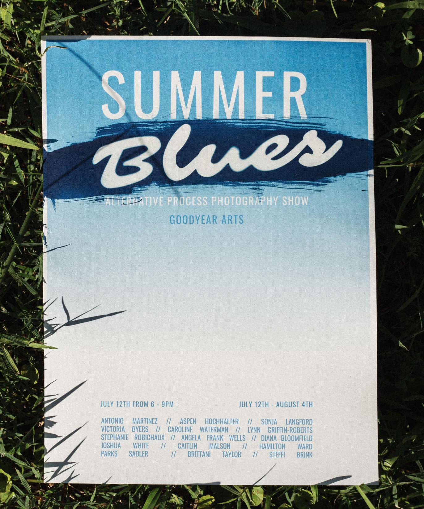 Summer Blues  Poster design by Parks Sadler