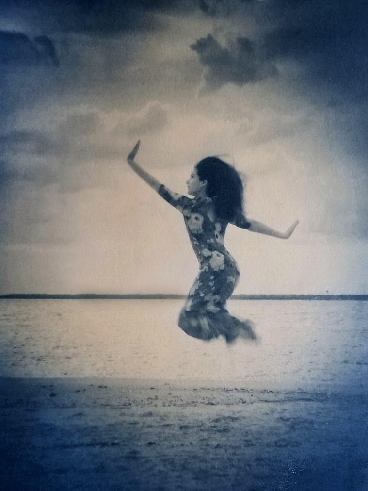 Annalee along the Cape Fear,  2019 (Gum bichromate over cyanotype)