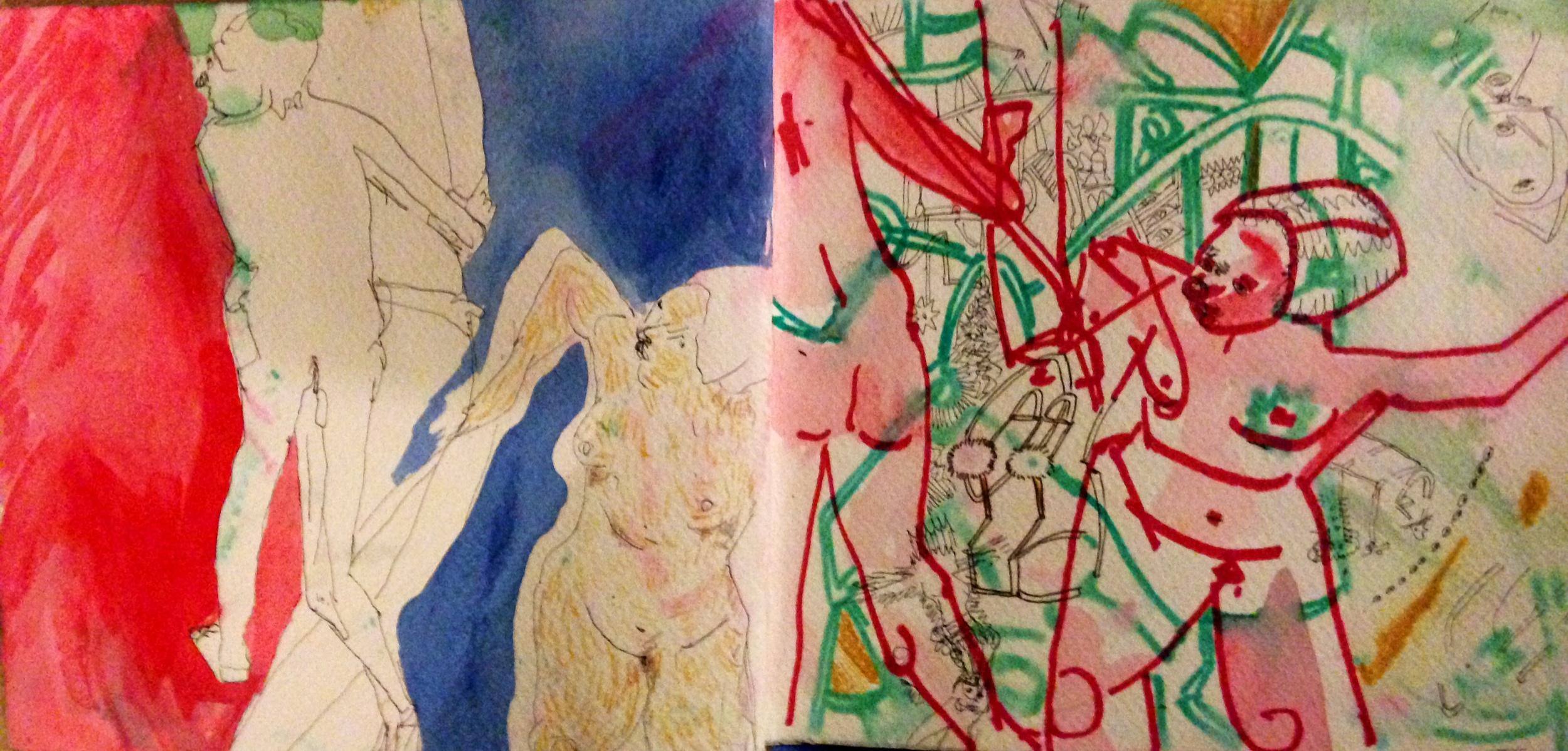 Vienna Sketch Book, 1:1 after Mattise