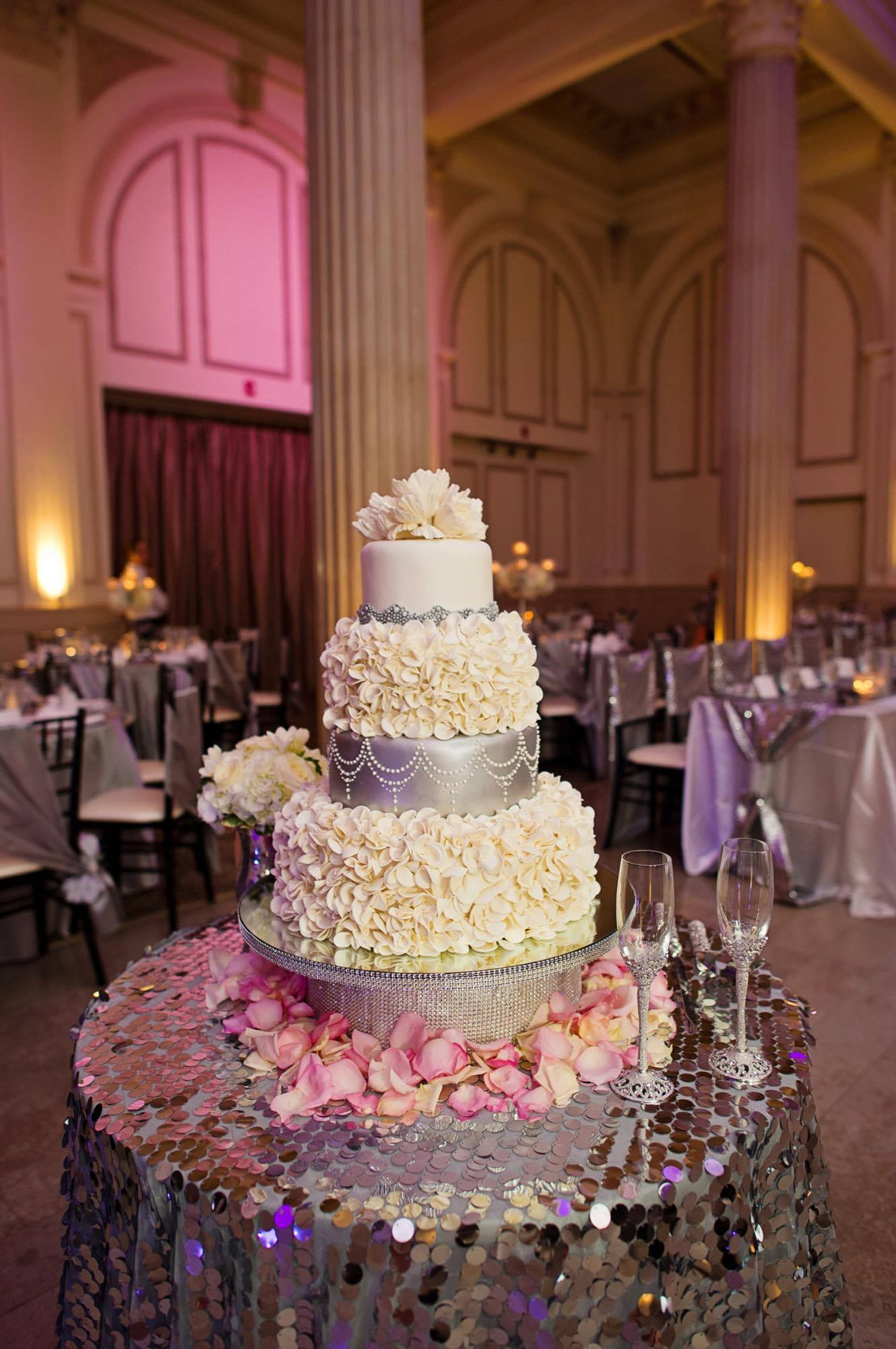 Sparkling Wedding Cake
