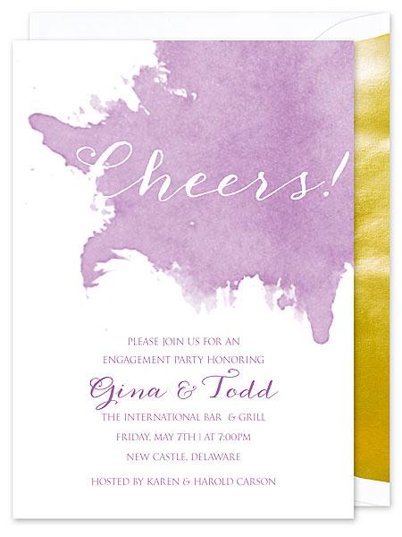 Orchid Watercolor Invitation