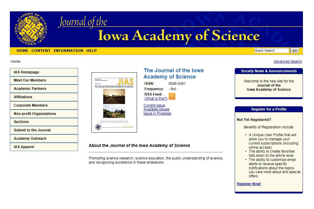 Click on the image to access the Journal website - password required.