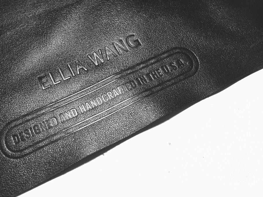black leather ellia wang