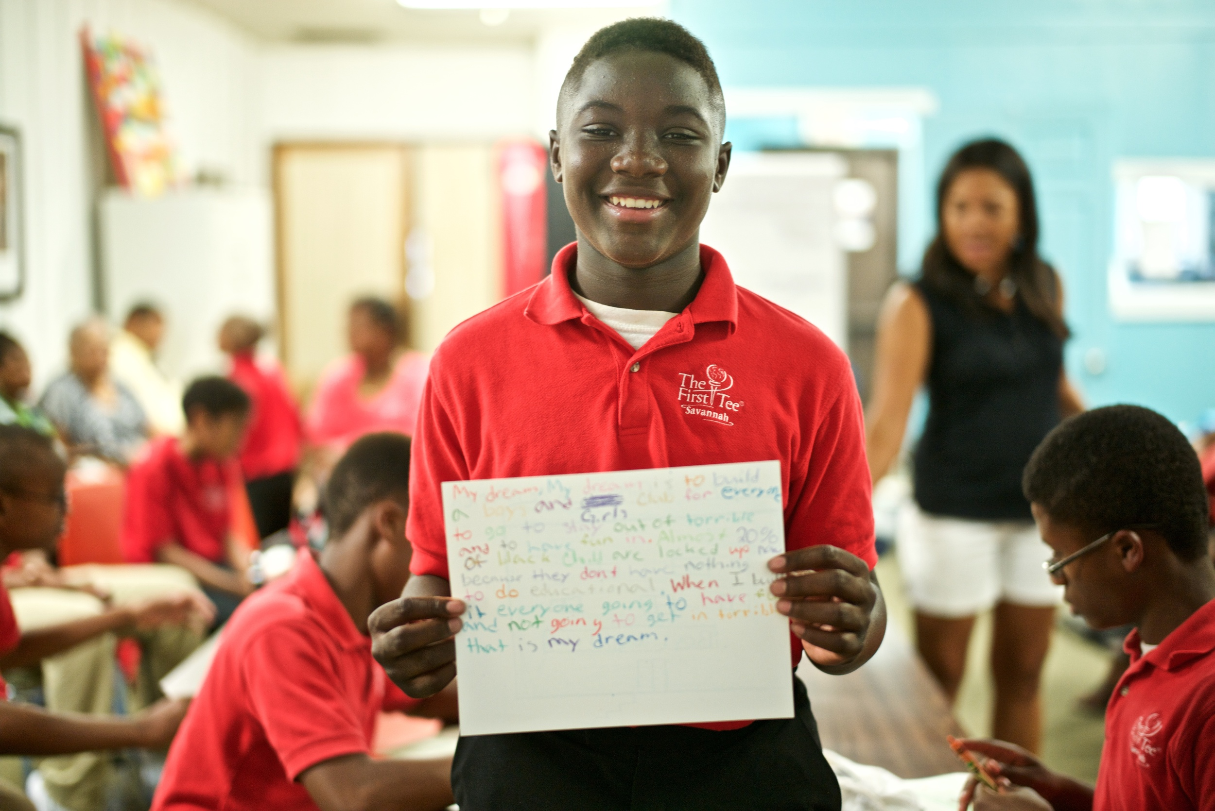 Steven' dream is to build a play house that takes care of children and lets them socialize with their peers in a safe environment. He said an article he read states that twenty present of black children are locked at home during the summer because their parents want them to stay out of trouble.