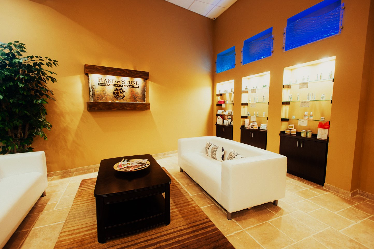 Hand & Stone Massage and Facial Spa Jacksonville, FL  DLP, LLC  Metal Framing, Drywall, Sound Board, Acoustical Ceilings, Doors and Frames, Carpentry