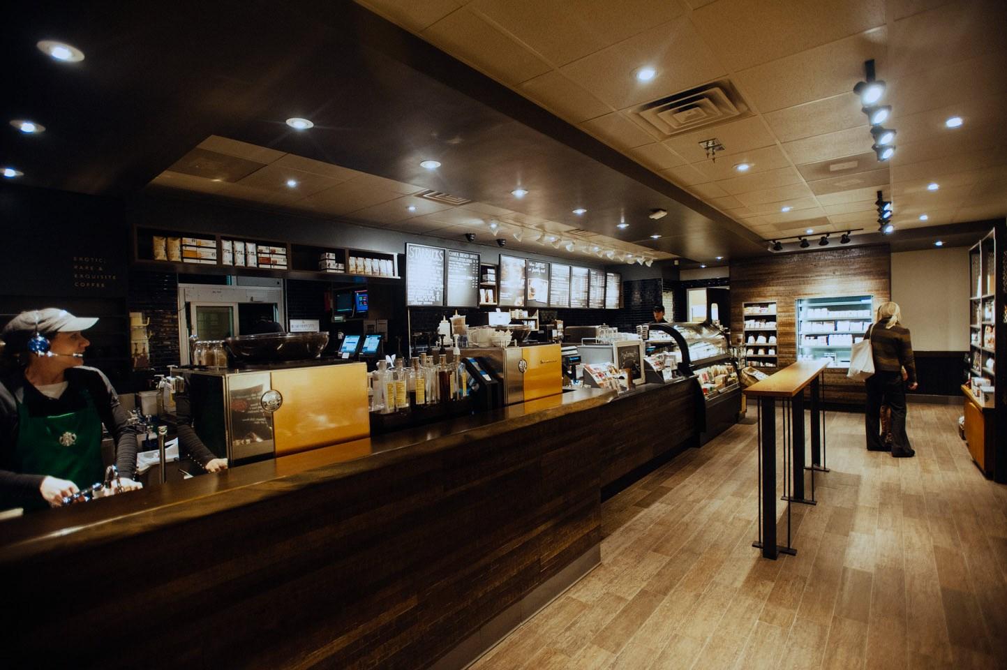 Starbucks, Jacksonville Beach, FL Elfrink Custom Construction, Inc.  Metal Framing, Drywall