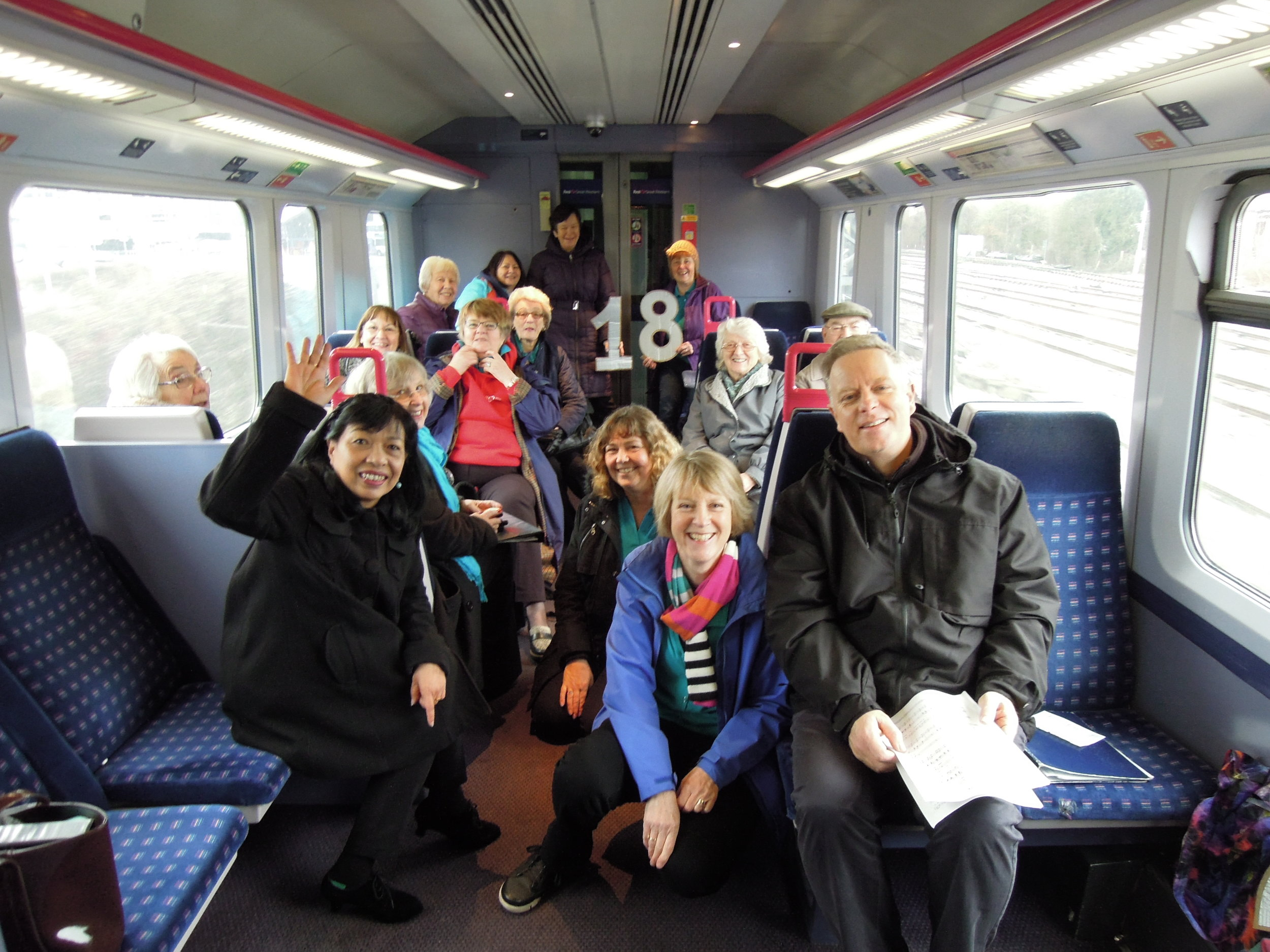 Singing on the train from Bristol Parkway to Temple Meads