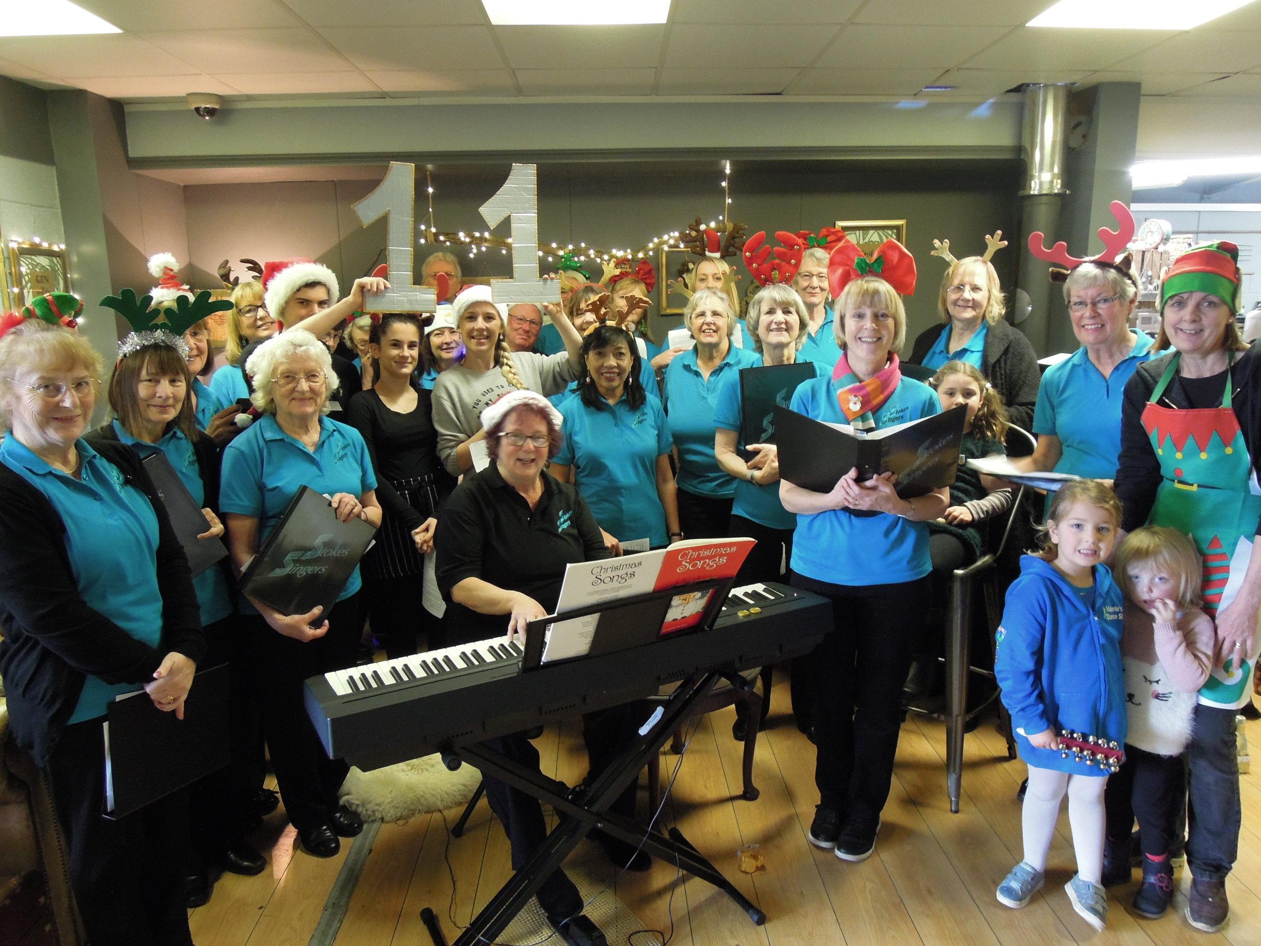 Event 11: We got the festive season underway at Poplars Farm Shop, Frampton Cotterell.