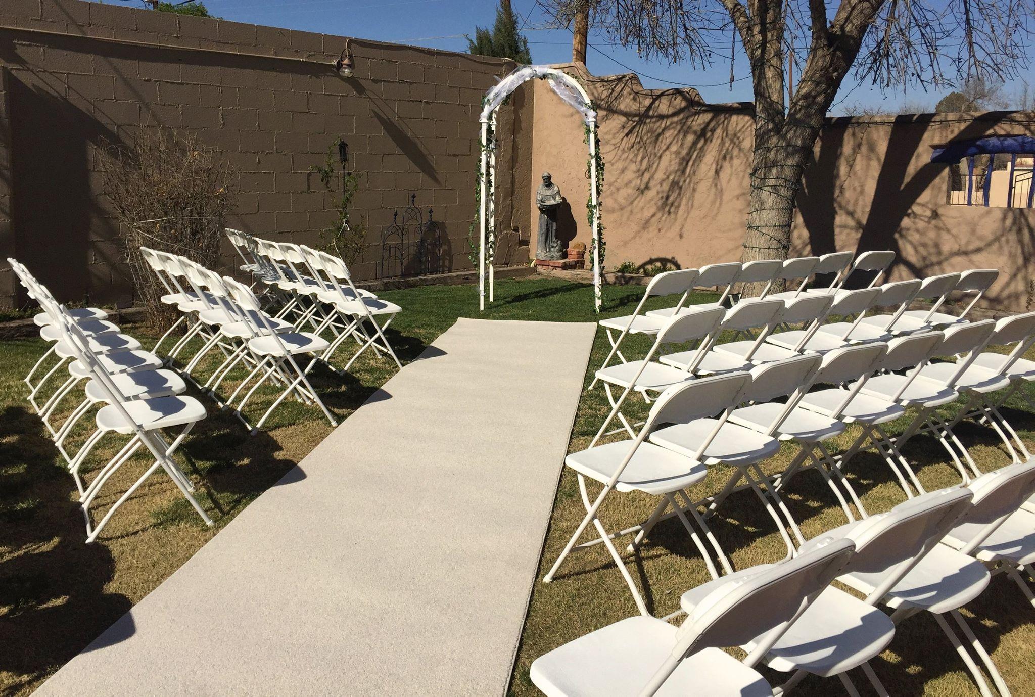 Las Cruces ceremony chair rentals