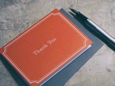 Sending thank you notes