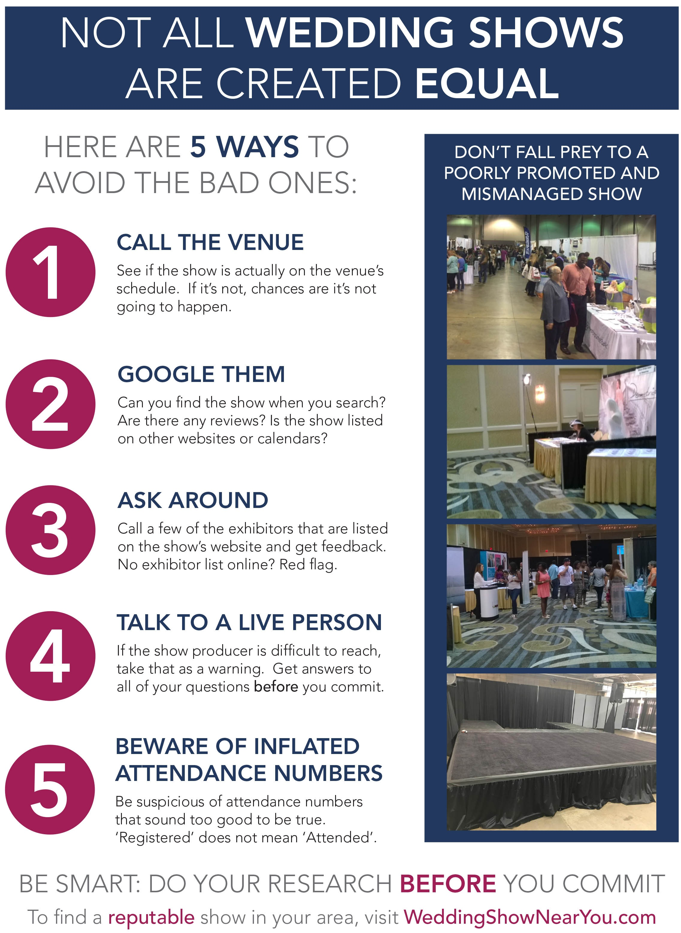 How to find the right Bridal Show for you
