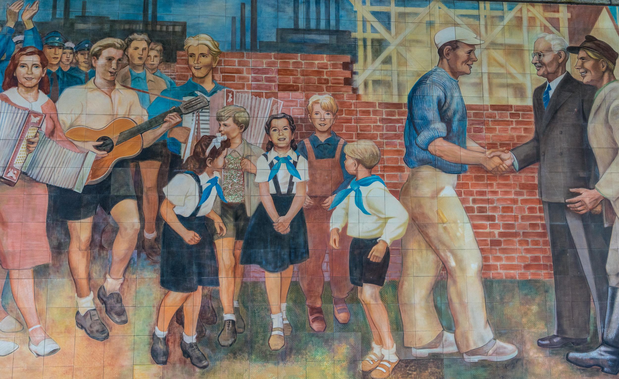 GDR Socialist mural