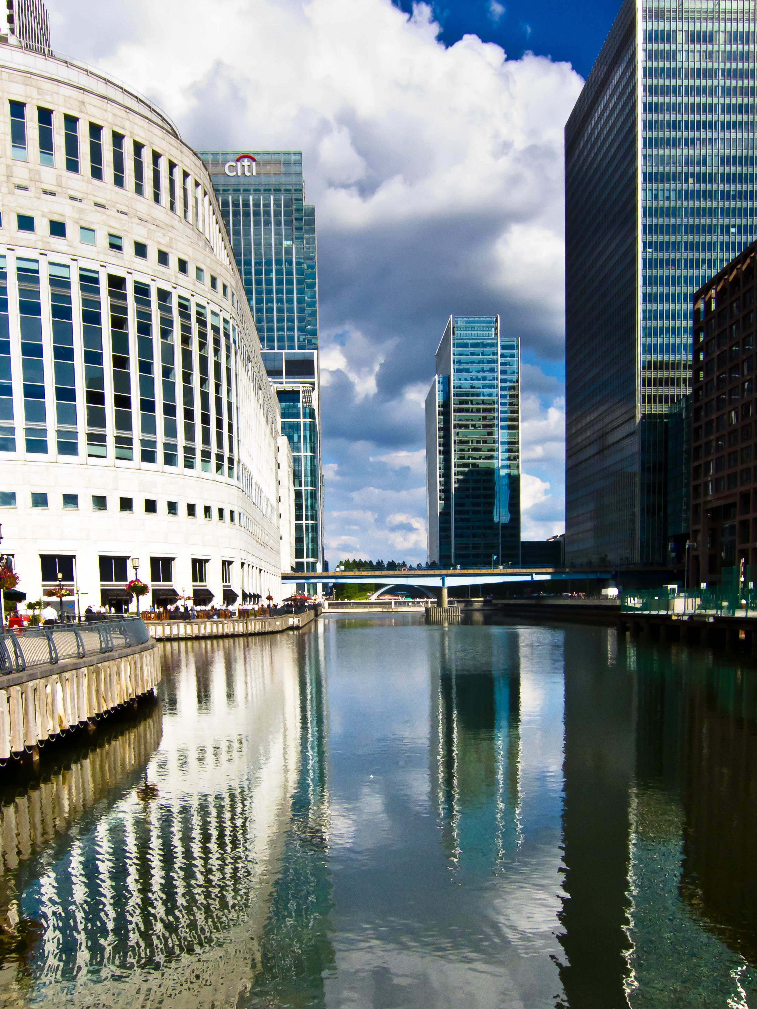 Canary Wharf where Ethan worked for MitaSimi Bank